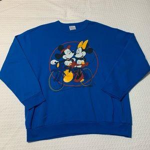 Vtg Disney Mickey & Mini Crewneck Sweatshirt Sz L